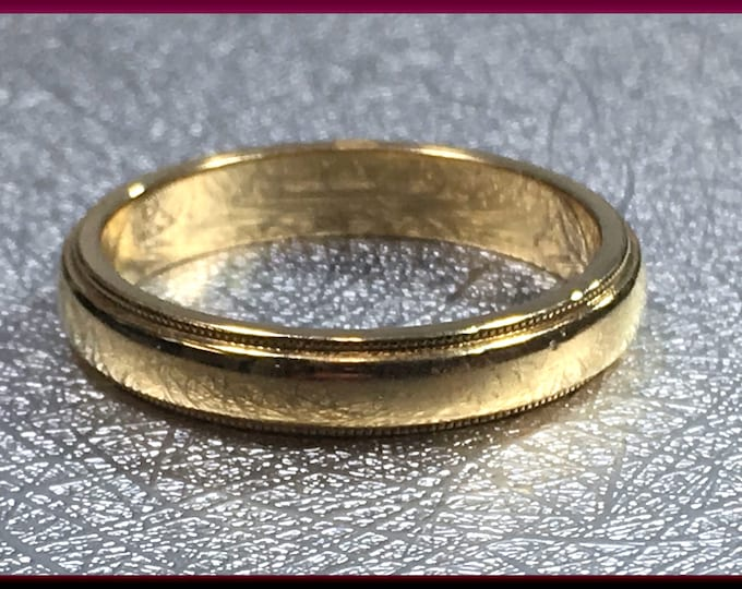 Tiffany Yellow Gold Wedding Band Vintage Tiffany 18K Yellow Gold Wedding Ring