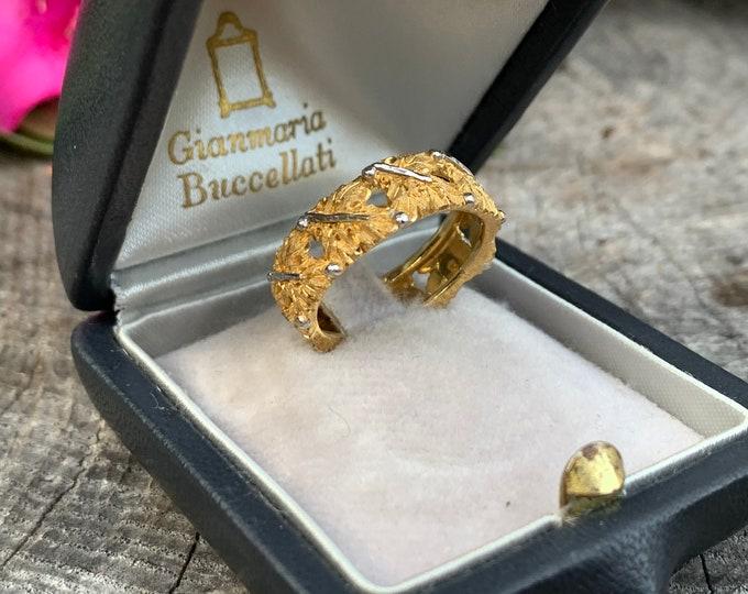 Buccellati Band, Buccellati Ring, Gold Wedding Band,