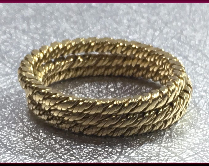 Wedding Bands 18K Yellow Braided Gold Set of 3 Wedding Bands - R 544M