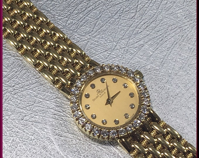 Baume Mercier Diamond Watch Lady's Gold Watch - EB 47