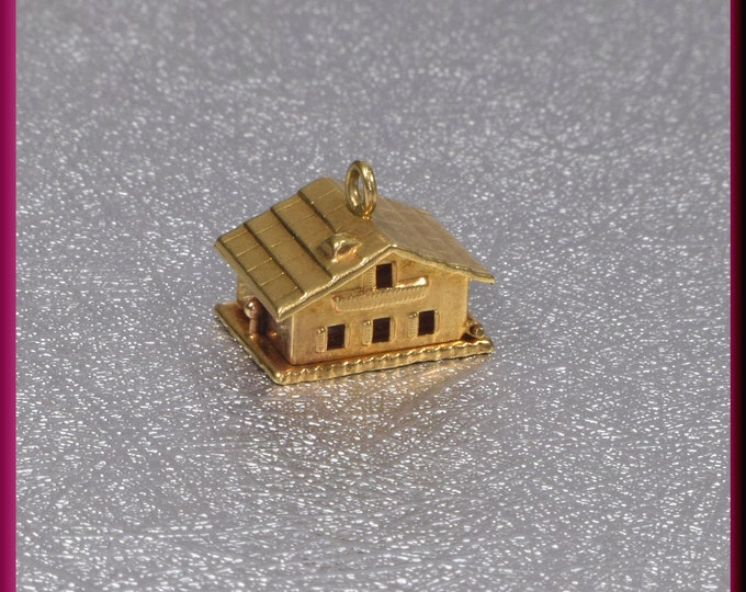 Gold House Charm, Gold Home Charm, Home Sweet Home charm, Movable Charm, Vintage Charm