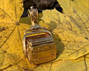 Victorian Gold Fob, Victorian Gold Locket, Victorian Locket, Victorian Fob