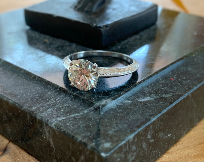 Art Deco Engagement Ring, Art Deco Ring, Minimalist Ring, Alternative Ring Old European Cut, Conflict Free Diamond