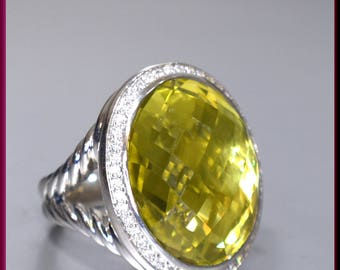 David Yurman Ring, Yurman Ring, David Yurman Ring Size 7, Yurman Signature Collection Ring, David Yurman Citrine Ring