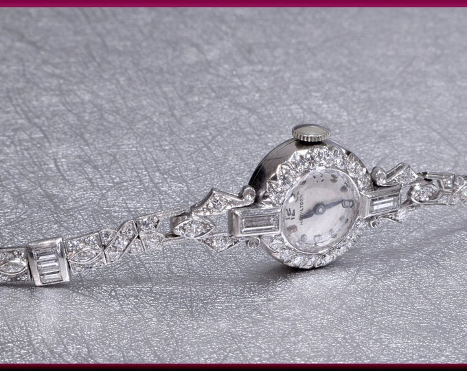 Art Deco Watch, Art Deco Diamond Watch, Antique Watch, Platinum Watch, Antique Wrist Watch, Vintage Watch