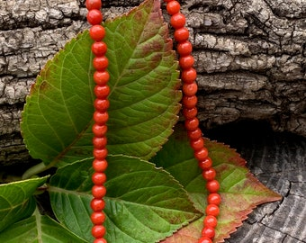 Vintage Coral Beads, Coral Bead Necklace, Coral Necklace, Coral Beads