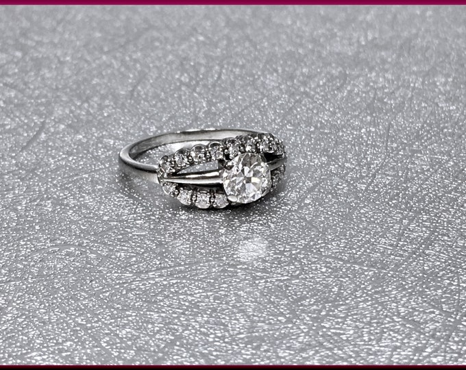 Art Deco Engagement Ring, 1920s Engagement Ring, Antique Engagement, Conflict Free, Alternative Ring, Art Deco Ring, Filigree Ring,