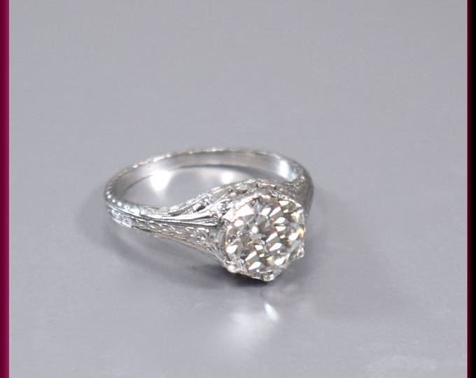 Antique Engagement Ring Art Deco Diamond Engagement Ring Art Deco Ring Alternative Ring Minimalist Ring Filigree Ring Dainty Ring For Her