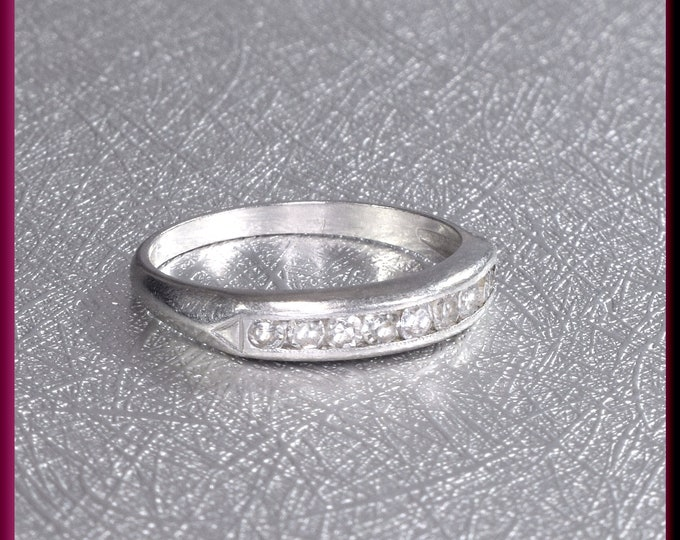 Vintage Diamond Wedding Band Vintage Wedding Band Vintage Eternity Band Platinum Wedding Ring - R 549M