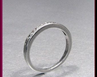 Platinum Tiffany and Company Diamond Wedding Band - R 319S