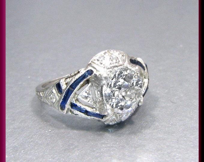 Art Deco Engagement Ring Antique Engagement Ring Vintage Ring Statement Ring Alternative Ring Art Deco Ring Filigree Ring Platinum Dainty
