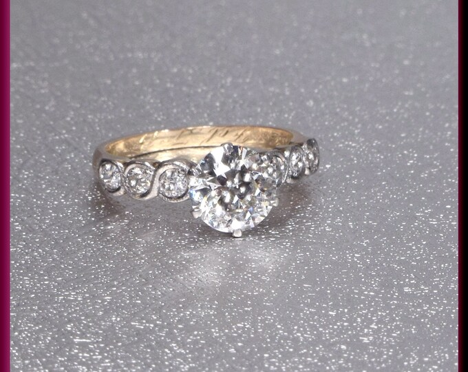 Art Deco Engagement Ring, 1920s Engagement Ring, Edwardian Engagement, Conflict Free, Alternative Ring, Art Deco Ring, Filigree Engagement