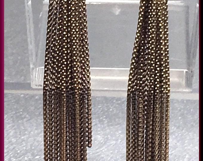 Gold Tassel Diamond Earrings Diamond Fringe Earrings Gold Fringe Earrings David Yurman Earrings