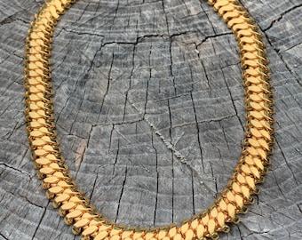 Chunky Gold Choker, Wide Gold Choker, Thick Gold Choker, Bold Gold Choker, Oval Link Chain