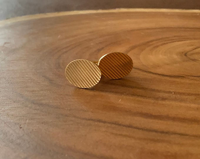 Tiffany and Co Cufflinks, Tiffany Gold Cufflinks, Oval Cufflinks, Wedding Cufflinks, Men's Cufflinks, Grooms Gift, Anniversary Gift