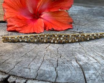 Sapphire Bracelet, Diamond and Sapphire Bracelet, Vintage Diamond Bracelet, Gift for Her