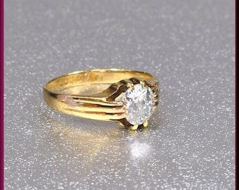 Victorian Engagement Ring Alternative Engagement Ring Victorian Ring Antique Engagement Ring Minimalist Ring Yellow Gold Ring Dainty Ring