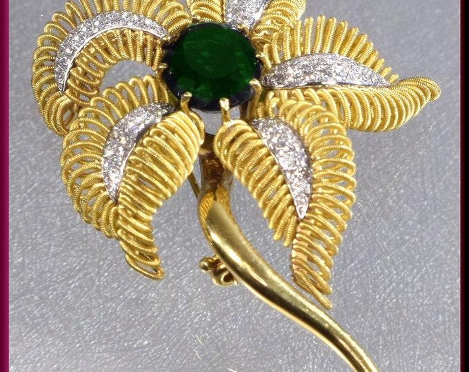 Floral Brooch Brooch Bouquet Bridal Bouquet Gift for her Flower Brooch Diamond Brooch Flower Brooch Gold Brooch Vintage Brooch Pin Lapel Pin