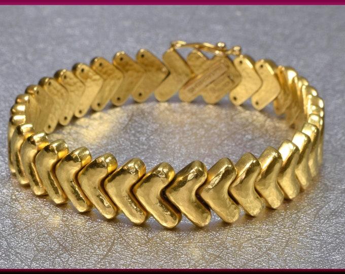 Lalaounis Gold Bracelet, 18K Yellow Gold Bracelet, Lalaounis Bracelet