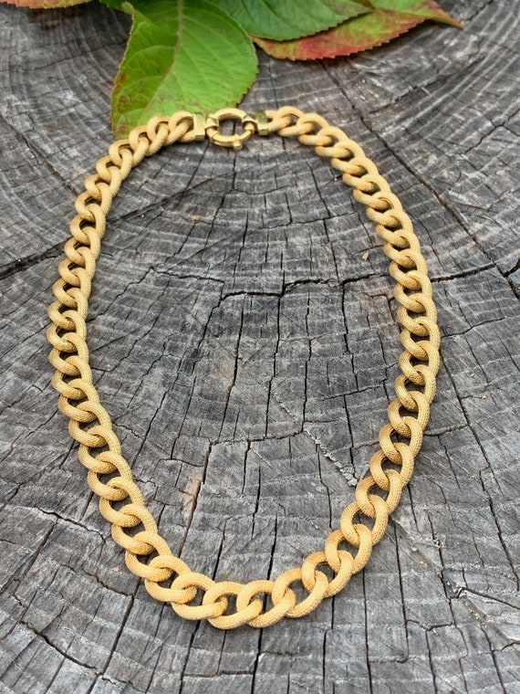 Chunky Gold Choker, Wide Gold Choker, Thick Gold C