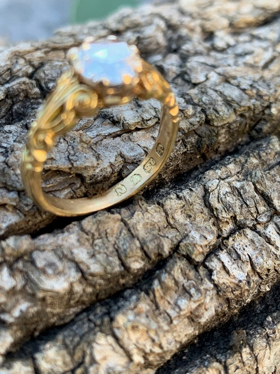 Victorian Engagement Ring, Victorian Ring, Rose C… - image 6