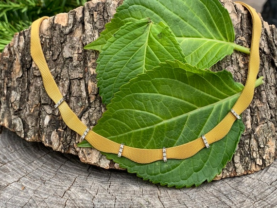 Gold Diamond Choker, Diamond Choker Necklace, Anti