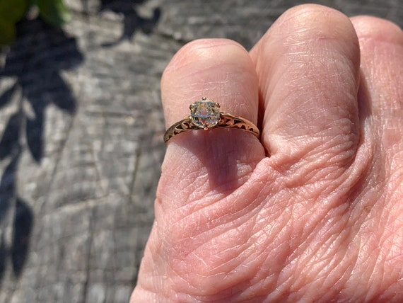 Victorian Engagement Ring, Old Mine Diamond Ring,… - image 4