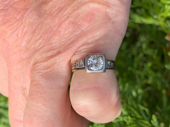 Victorian Diamond Engagement Ring,  Antique Engag… - image 5