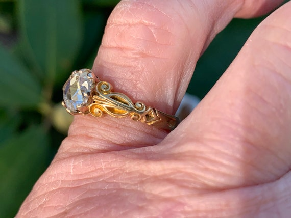 Victorian Engagement Ring, Victorian Ring, Rose C… - image 9