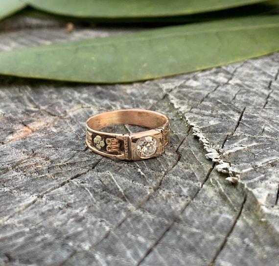 Victorian Diamond Engagement Ring,  Antique Engag… - image 3