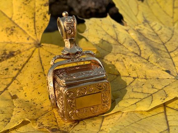 Victorian Gold Fob, Victorian Gold Locket, Victori