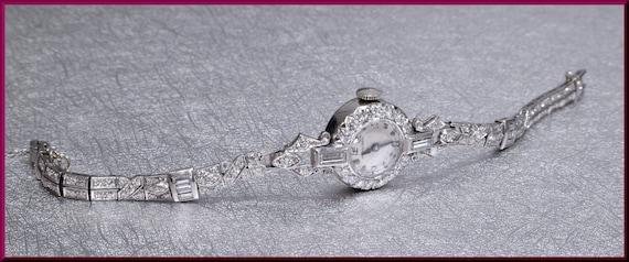 Art Deco Watch, Art Deco Diamond Watch, Antique Wa