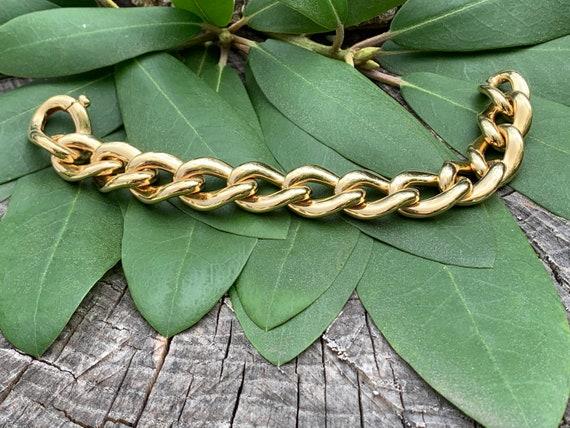 Wide Gold Bracelet, Chunky Wide Gold Bracelet, Ova