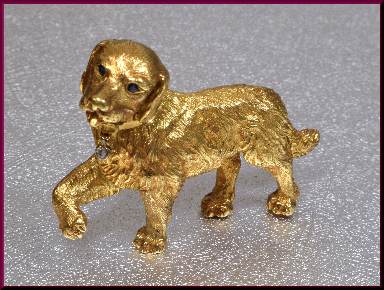 a23e881259842 Tiffany & Co Gold Dog Brooch, Tiffany and Co Brooch, Golden ...