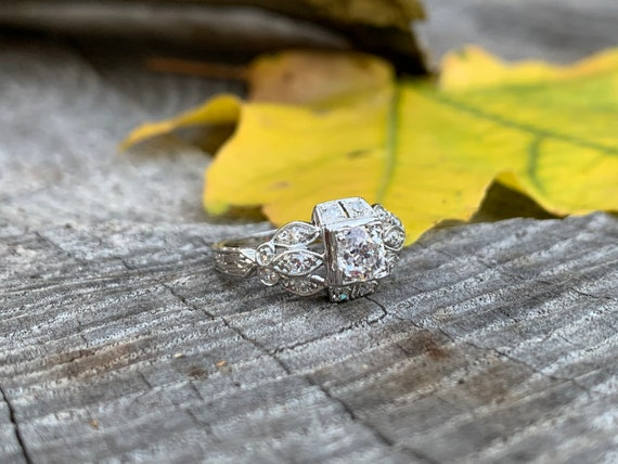 Art Deco Engagement Ring, Antique Engagement Ring