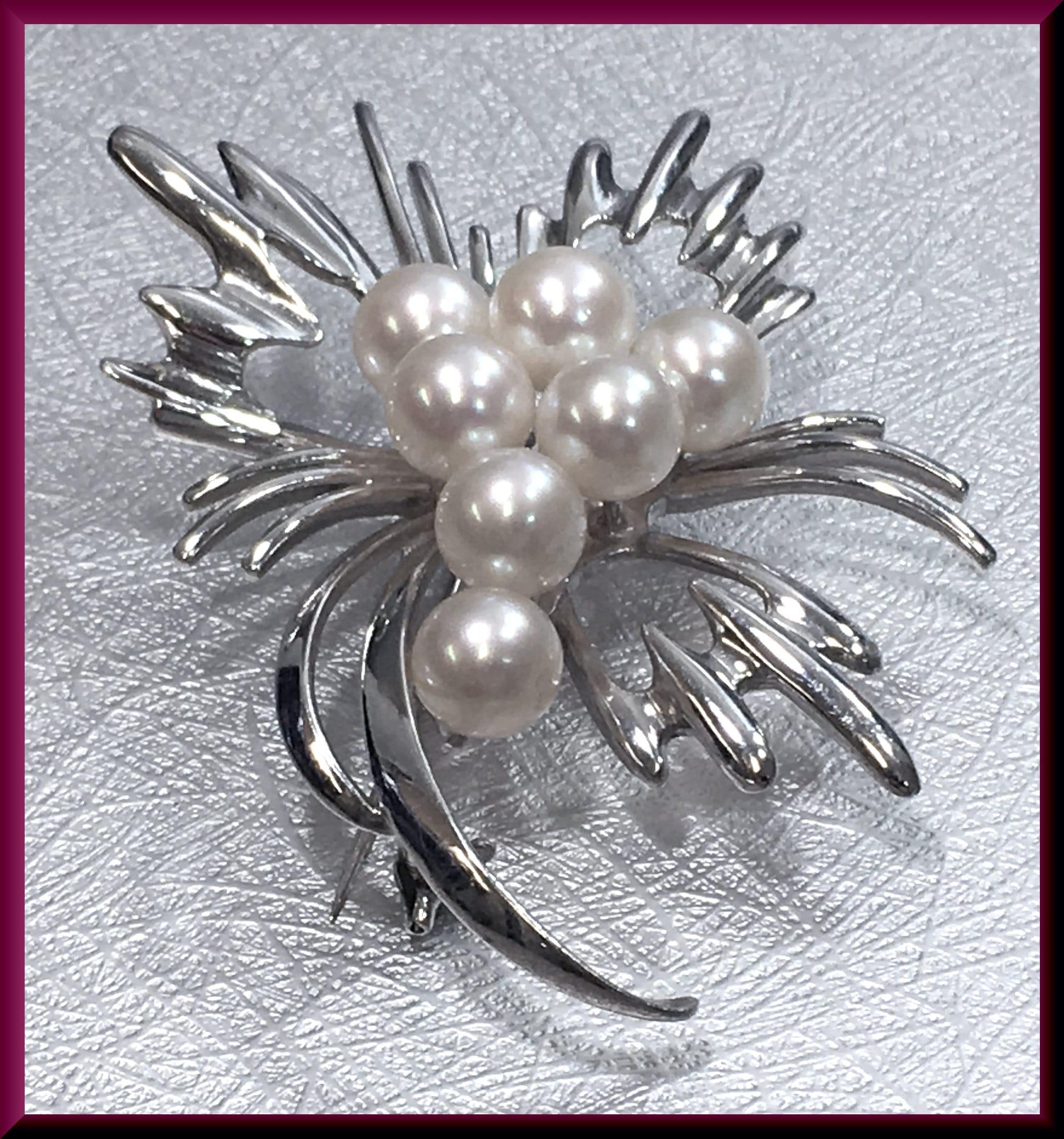 Pearl Brooch Flower Brooch Brooch Bouquet Brooch Pin Wedding Brooch