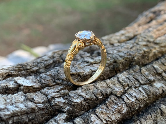 Victorian Engagement Ring, Victorian Ring, Rose C… - image 5