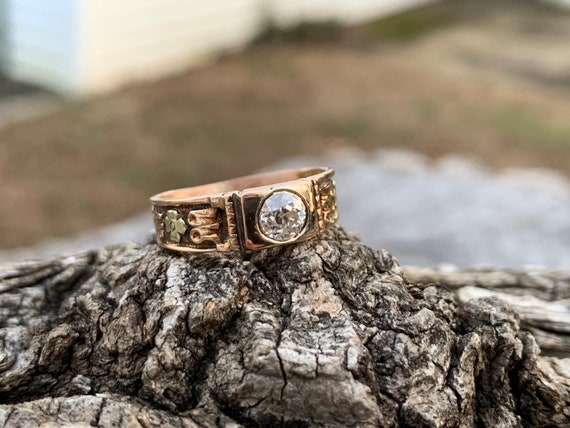 Victorian Diamond Engagement Ring,  Antique Engag… - image 1