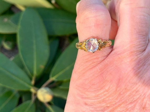 Victorian Engagement Ring, Victorian Ring, Rose C… - image 10