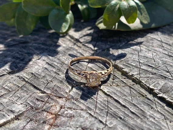 Victorian Engagement Ring, Old Mine Diamond Ring,… - image 7