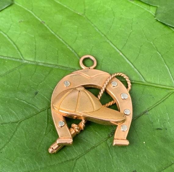 Horse Shoe Charm, Horseshoe Charm, Gold Horseshoe,