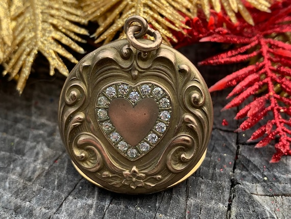 Victorian Heart, Gold Filled Heart Locket, Gold He