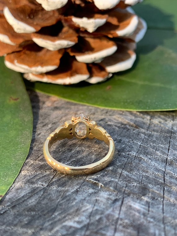 Victorian Engagement Ring, Victorian Ring, Rose C… - image 3