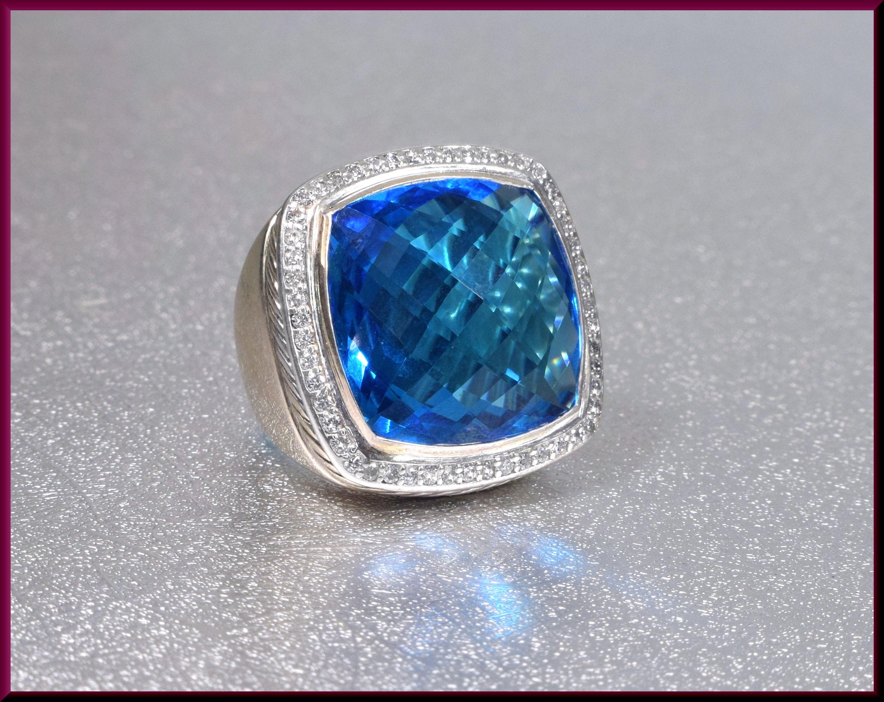 Petite albion blue topaz ring teens
