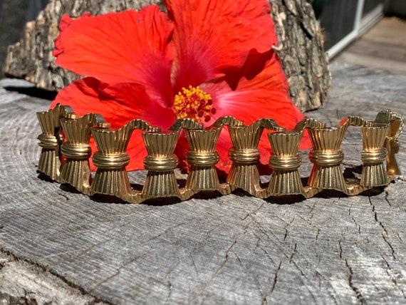 Yellow Gold Bow Bracelet, Gold Bow Bracelet, Chic