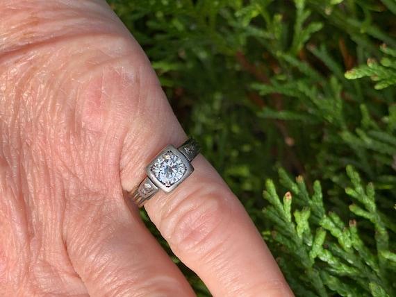 Victorian Diamond Engagement Ring,  Antique Engag… - image 6