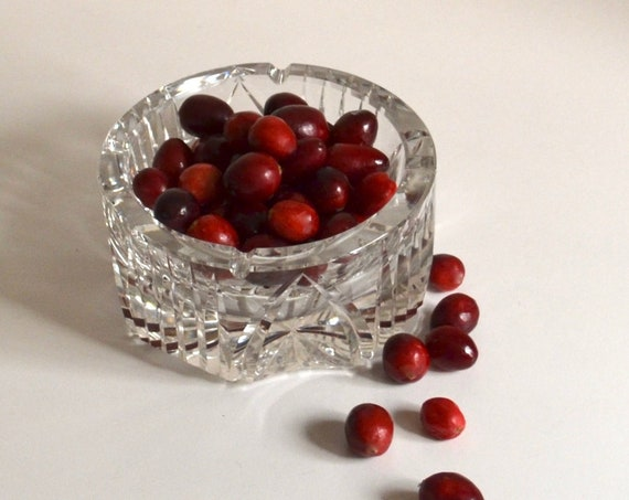 Vintage Clear Cut Glass Ashtray