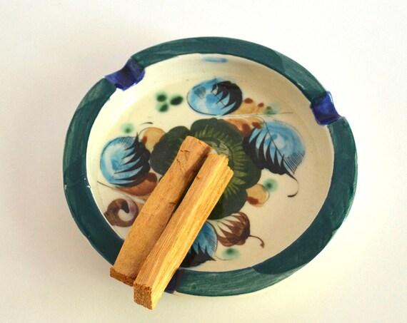 Vintage Mexican Pottery Ashtray