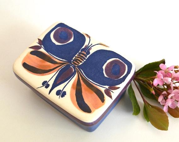 Vintage Scandinavian Royal Copenhagen Tenera Lidded Box The Butterfly by Inge-Lise Koefoed