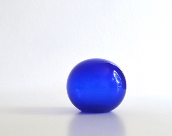 Vintage Cobalt Blue Glass Sphere